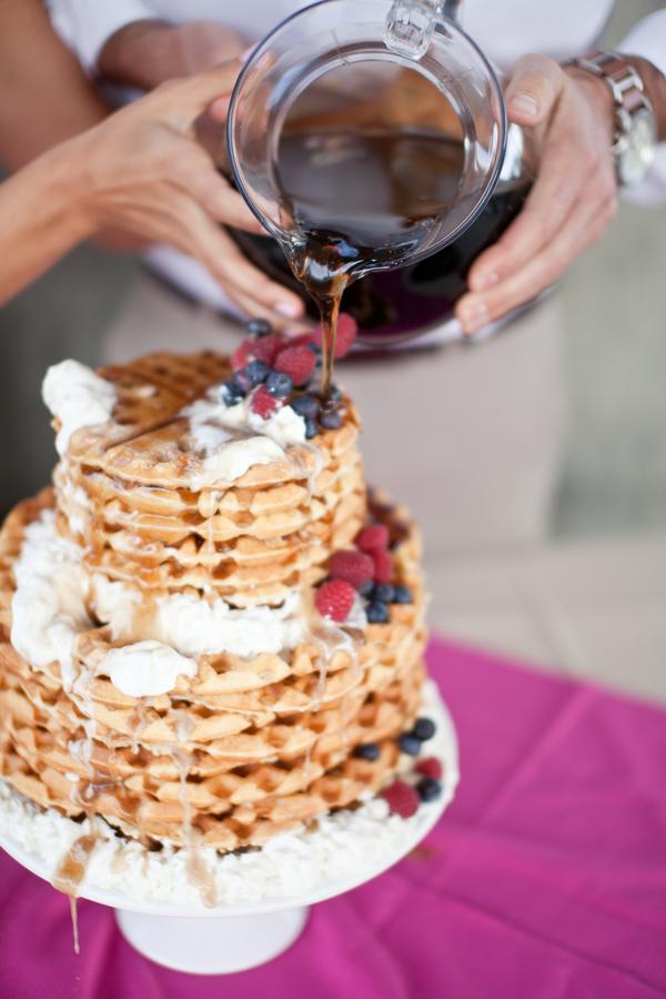 waffle cake, brunch wedding, wedding cake