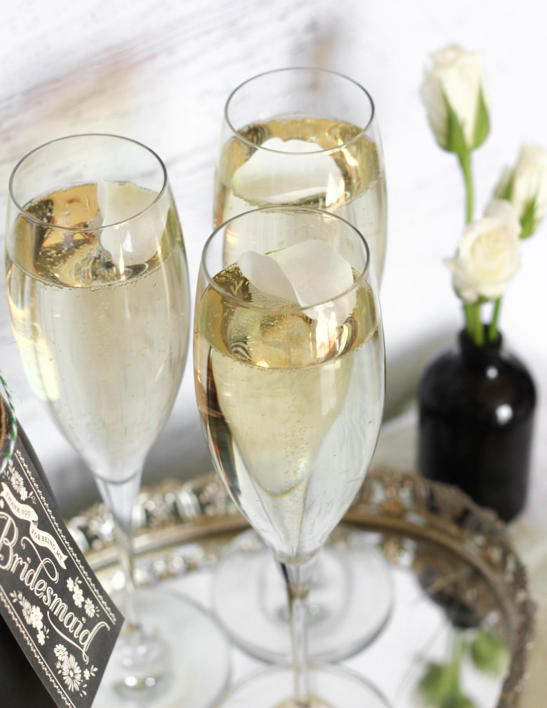 Freixenet champagne and sweets bridal suite table tutorial DIY 9