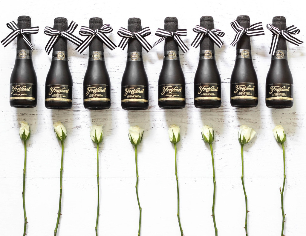 Freixenet mini champagne bottle favors 1