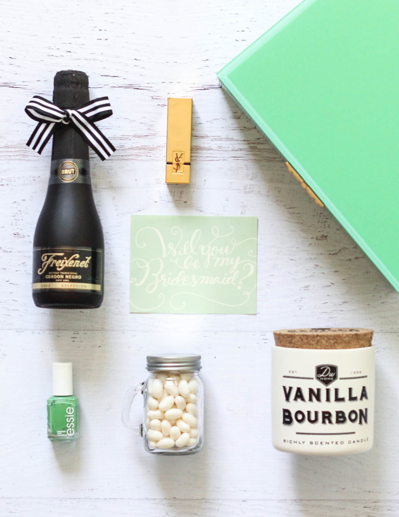Will you be my Bridesmaid Freixenet champagne gift box tutorial DIY 10