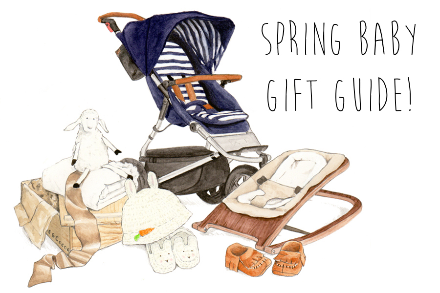 Spring Baby Gift Guide - Illustration by Parchment & Pixel