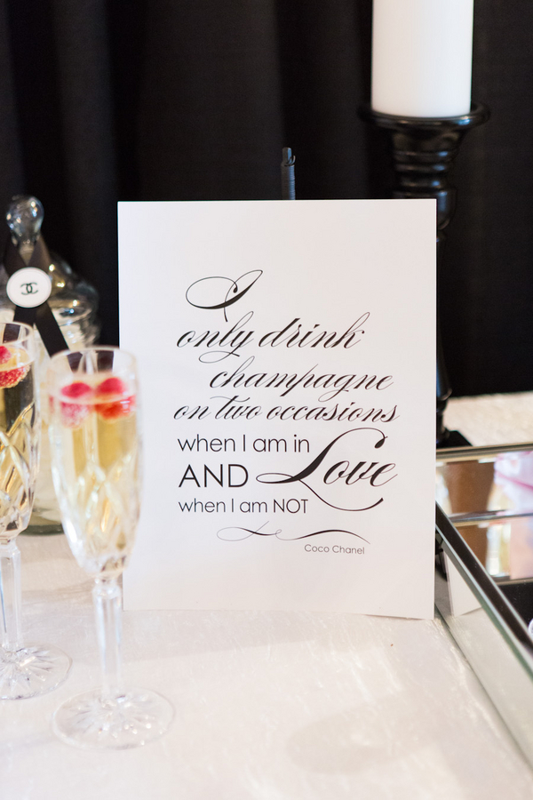 Coco Chanel themed black and pink wedding 13 - Love, Coco