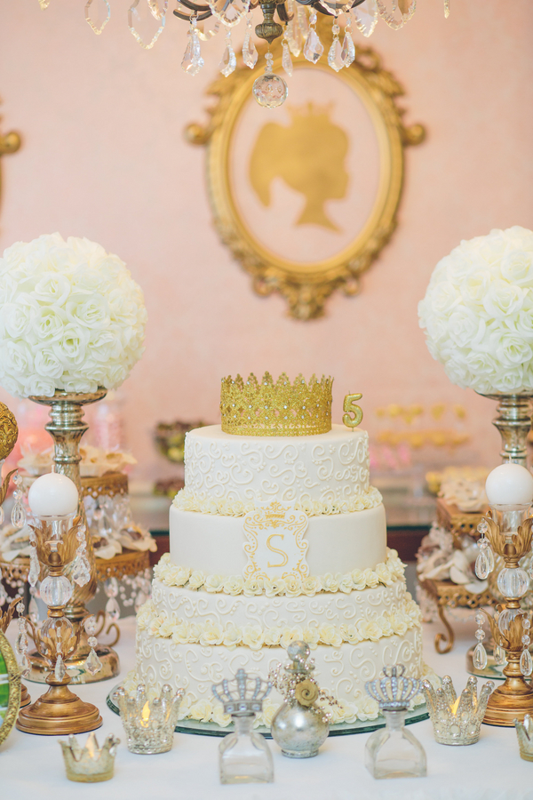 Immaculate Pink & Gold Princess Birthday Party 20