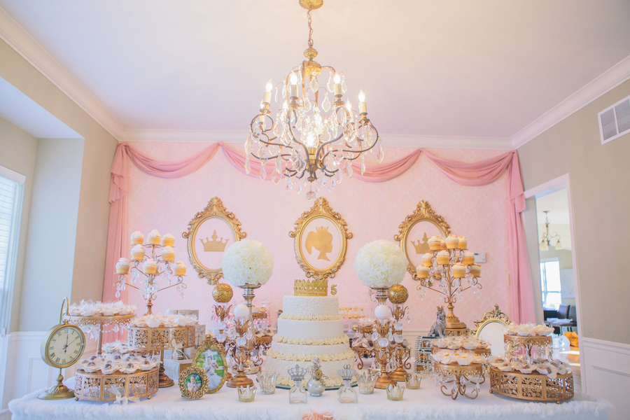 Immaculate Pink & Gold Princess Birthday Party 5
