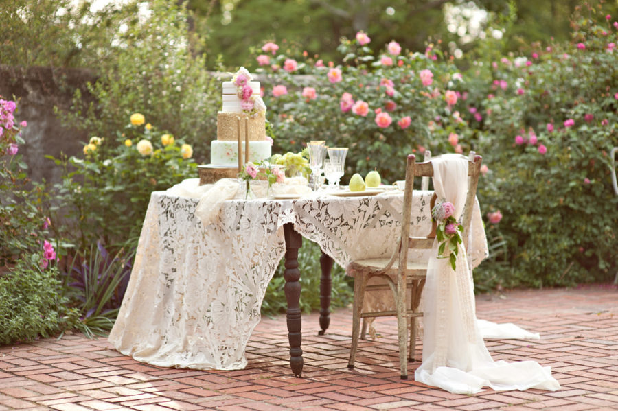 Outdoor Spring shabby chic wedding 2