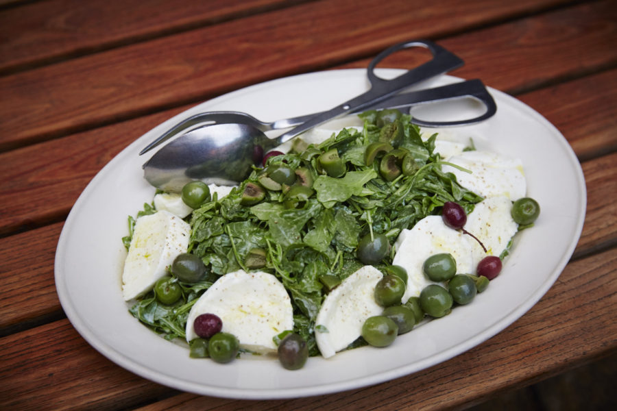Bufala Mozzarella and Arugula Salad - Dinner with Giada De Laurentiis and Francelico