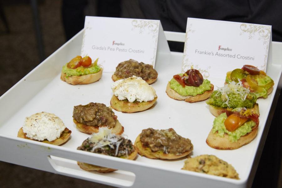 Giada De Laurentiis Pea Pesto Crostini - Dinner with Giada & Frangelico