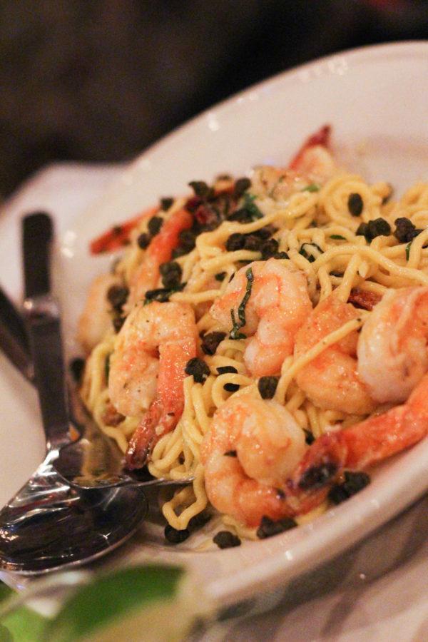 Giadas Lemon Spaghetti with Shrimp Dinner with Giada De Laurentiis and Francelico - Dinner with Giada & Frangelico