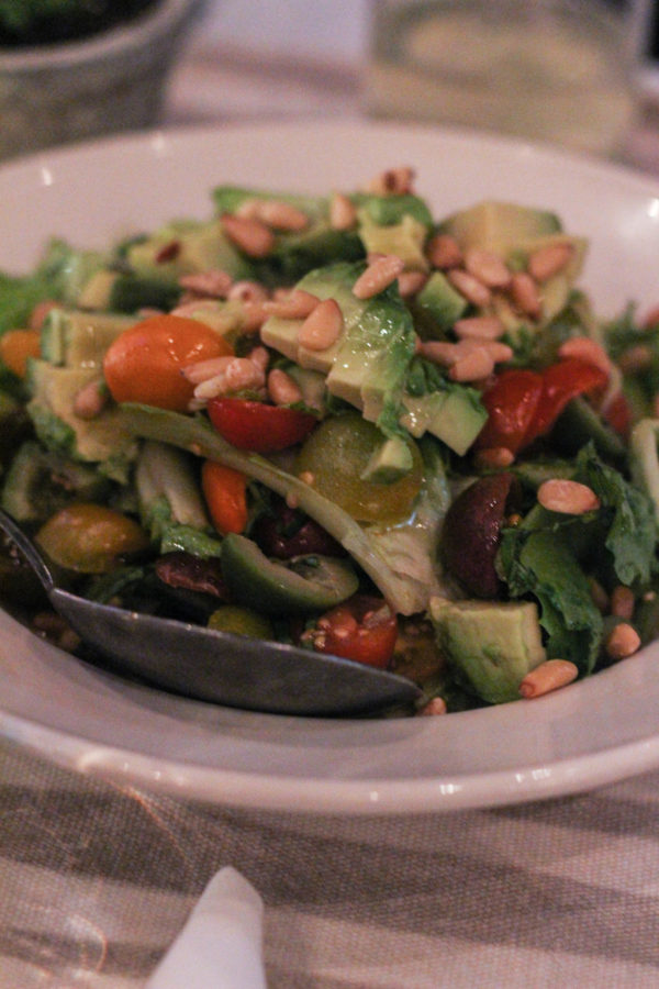 Giadas Tomato Avocado and Escarole Salad Dinner with Giada De Laurentiis and Francelico - Dinner with Giada & Frangelico