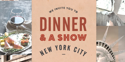 Stella Dinner Show Banner - Big Apple Cheesecake