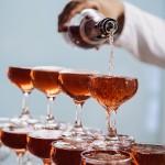 Maple Bourbon Champagne Cocktail