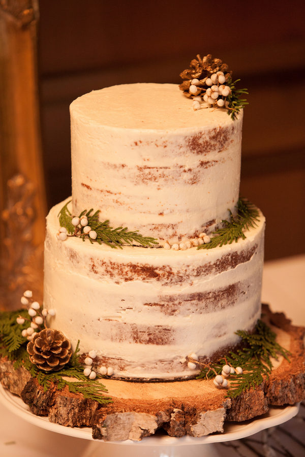 Rustic Green Winter Wedding 2 - Mini French Bread Loaf