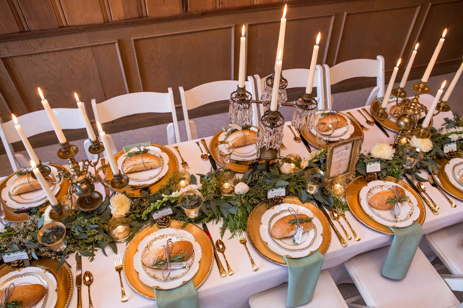 Rustic Green Winter Wedding 20