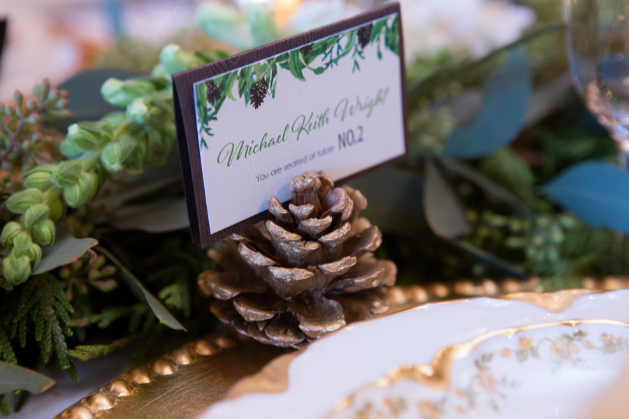 Rustic Green Winter Wedding 21