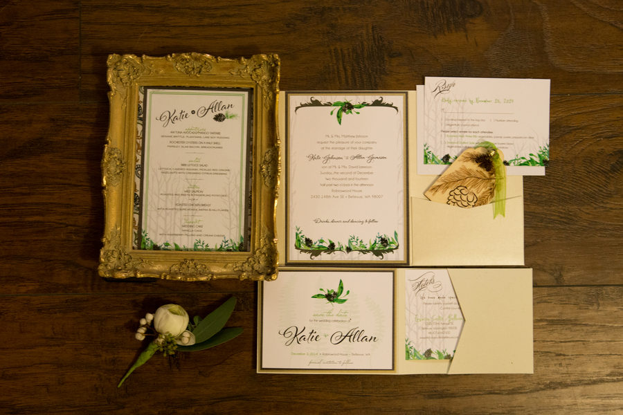 Rustic Green Winter Wedding 22