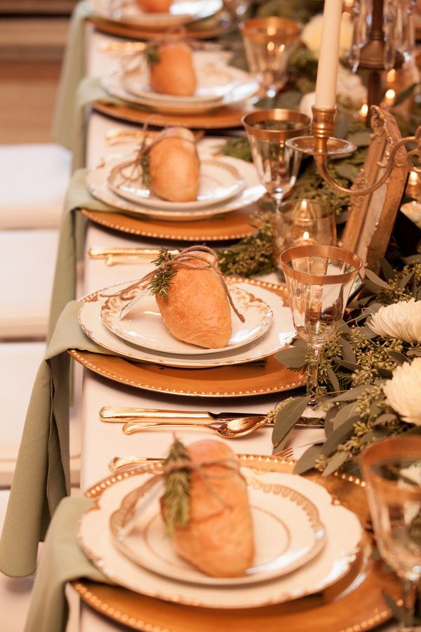 Rustic Green Winter Wedding 6 - Mini French Bread Loaf