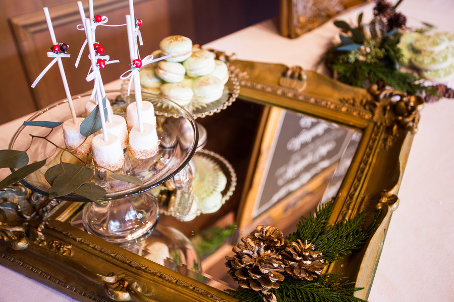 Rustic Green Winter Wedding 8