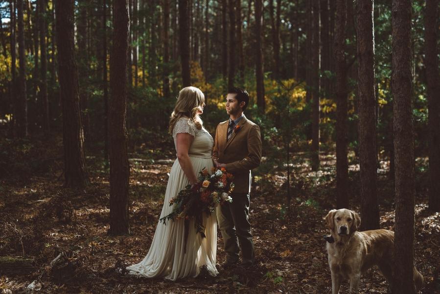 Rustic modern wedding 2