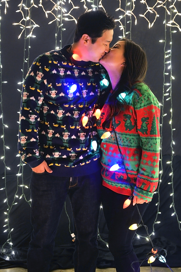 Ugly Christmas Sweater Couple's Portraits 4