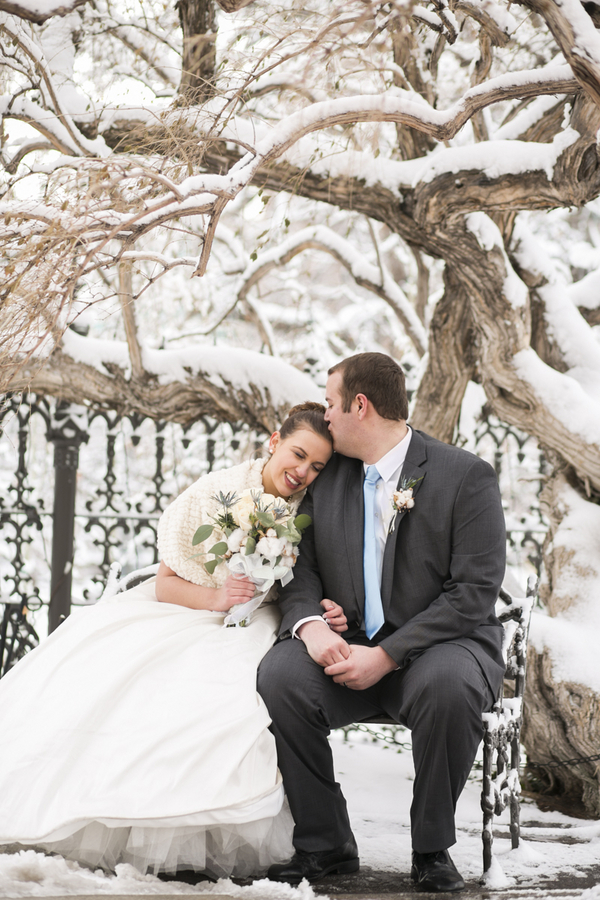 Winter Wonderland Real Wedding 1 - Holiday Spice Cake