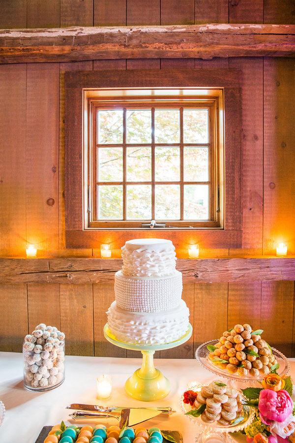 Shabby chic real wedding 17 - Butterscotch Basil Shortbread