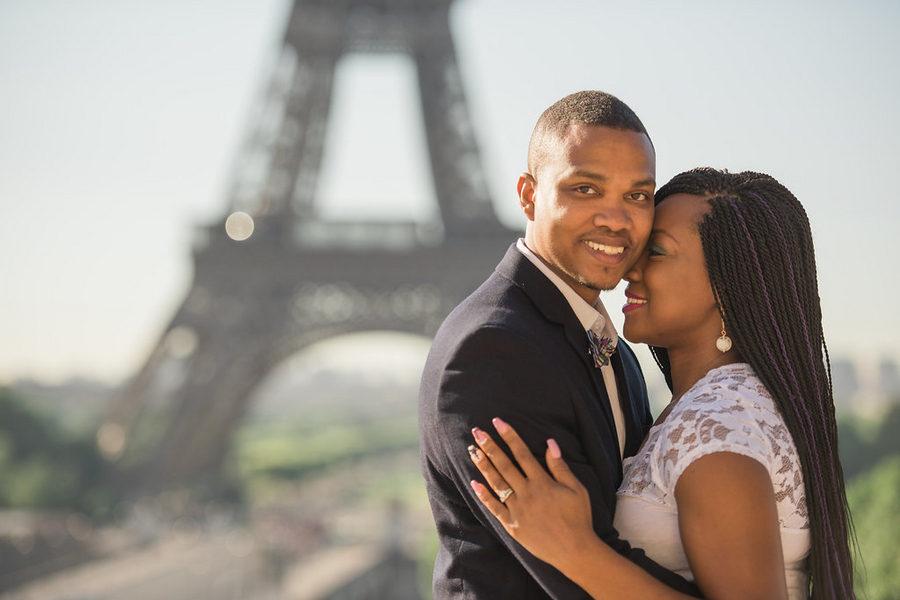 Paris Eiffel Tower Engagement Picnic 3