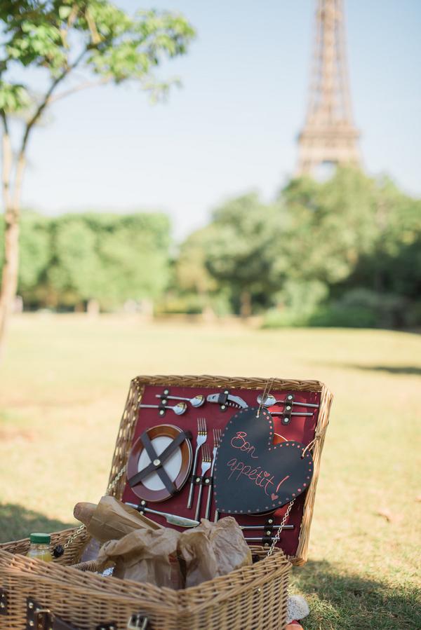 Paris Eiffel Tower Engagement Picnic 7