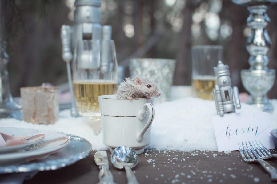 Rustic winter dessert table 20