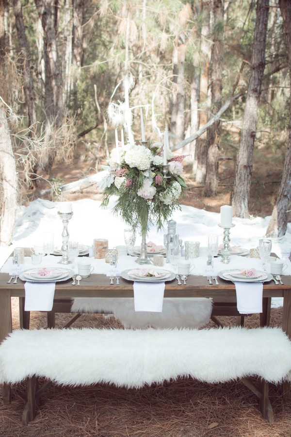 Rustic winter dessert table 4