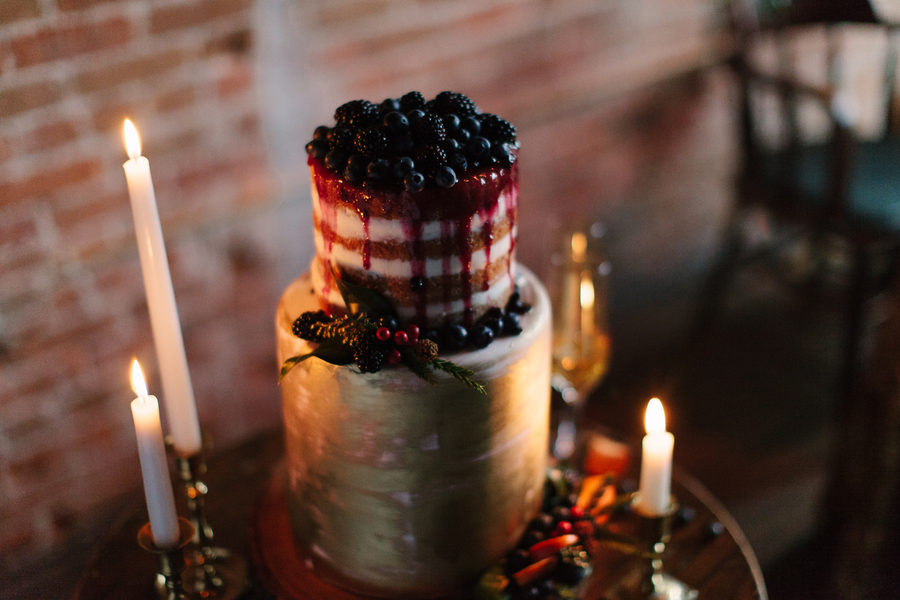 Mascarpone Layer Cake with Blackberry Sauce Recipe  - Swiss Meringue Cake with Huckleberry Drizzle