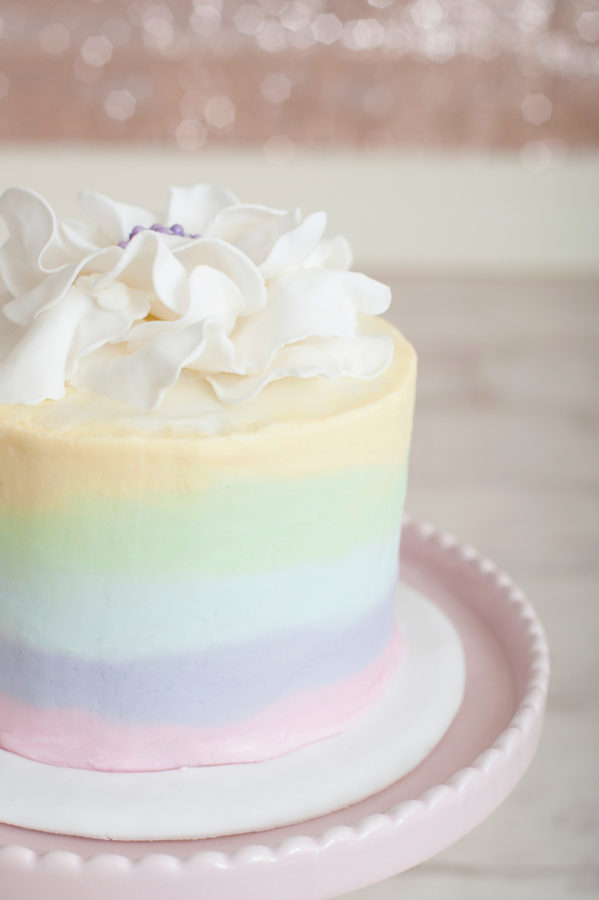 Rainbow Sherbet Cheesecake