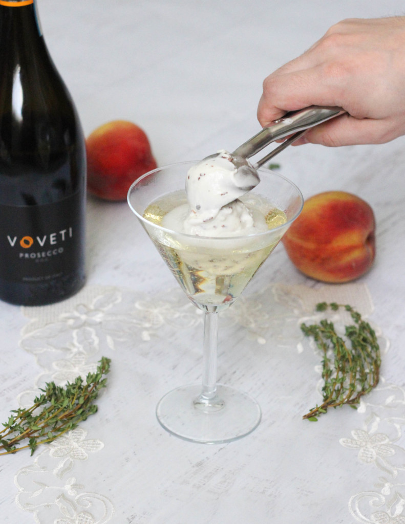 The Voveti Spring Voveti Prosecco Peach Coconut Ice Cream Cocktail Recipe by The Frosted Petticoat  791x1024 - The Voveti Spring Cocktail