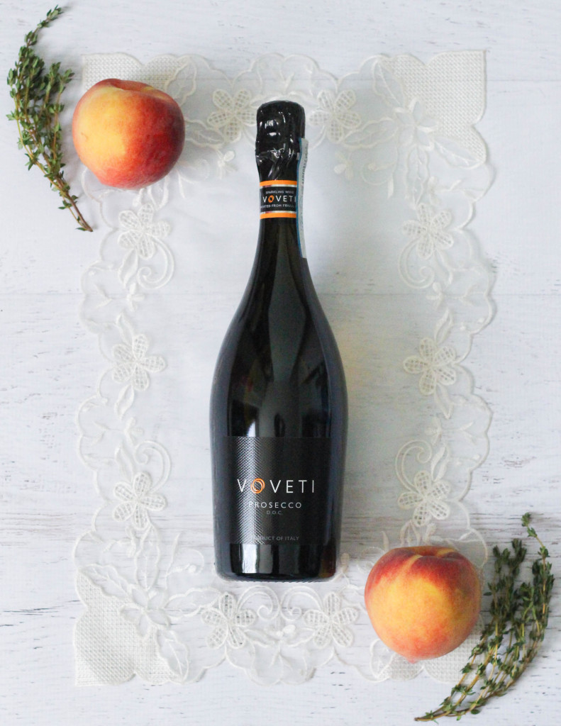 The Voveti Spring - Voveti Prosecco Peach Coconut Ice Cream Cocktail Recipe by The Frosted Petticoat 1