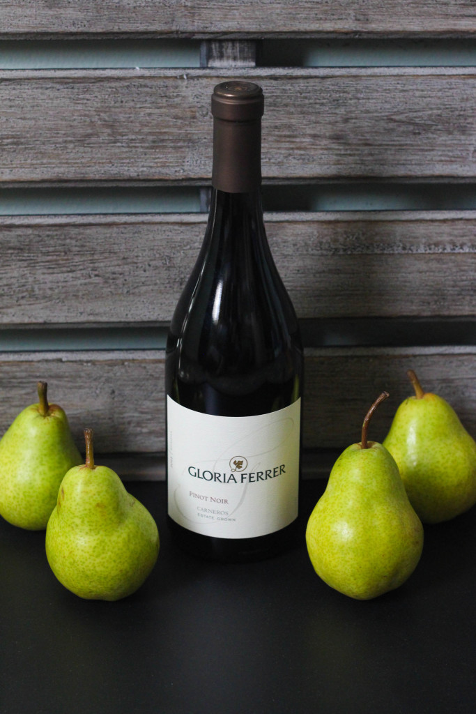 Wine Poached Pears with Gloria Ferrer Carneros Pinot Noir 1