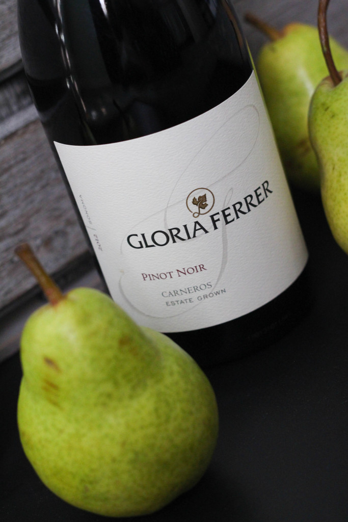 Wine Poached Pears with Gloria Ferrer Carneros Pinot Noir 2