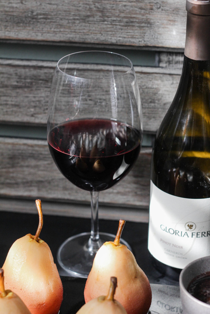 Wine Poached Pears with Gloria Ferrer Carneros Pinot Noir 6