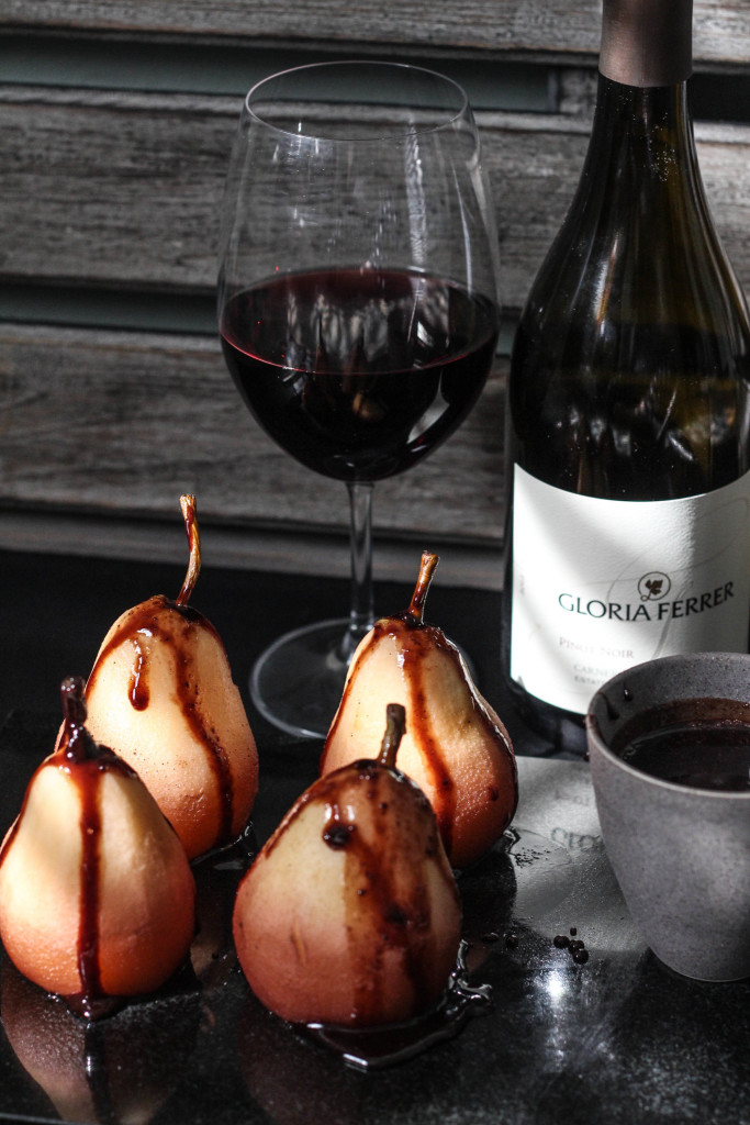 Wine Poached Pears with Gloria Ferrer Carneros Pinot Noir 683x1024 - Gloria Ferrer & the Poached Pear
