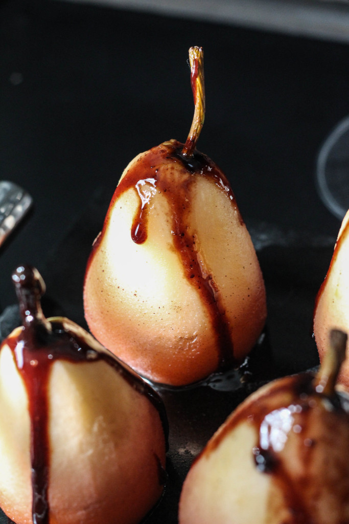 Wine Poached Pears with Gloria Ferrer Carneros Pinot Noir 9