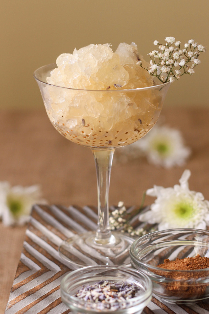 Mionetto Prosecco Slushie with Coconut Palm Sugar and Lavender created by The Frosted Petticoat 683x1024 - Mionetto Prosecco Slushie
