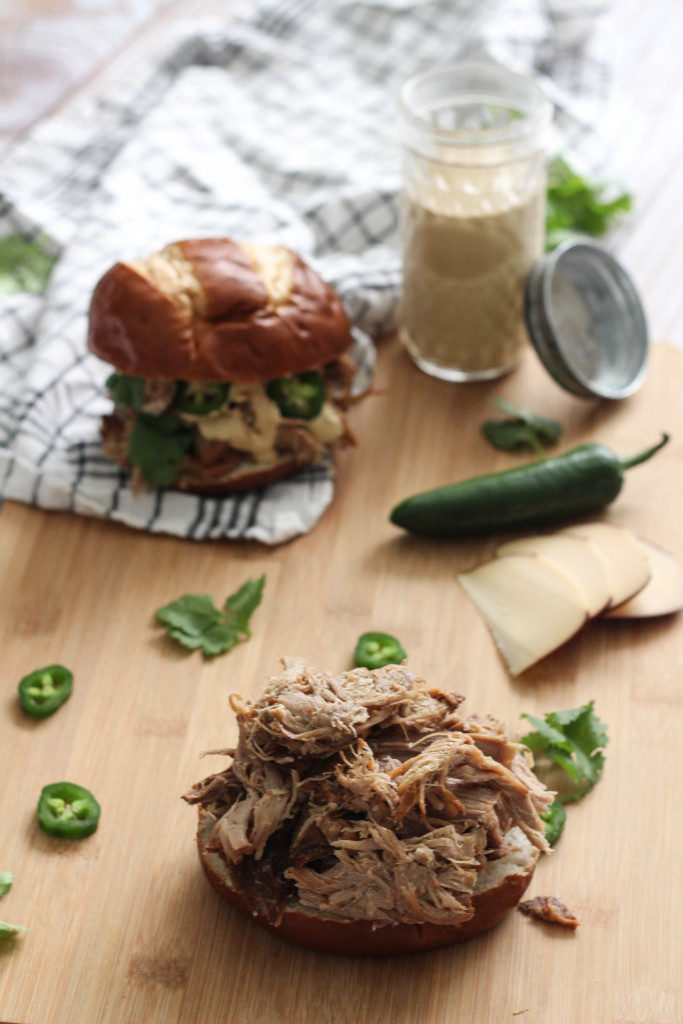 Slow Cooker Pulled Bourbon Veal with Apple Peach Aioli Mountain States Rosen The Frosted Petticoat 1 1 683x1024 - Pulled Bourbon Cedar Springs Veal