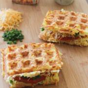 Waffle-Iron Hashbrown Sandwiches