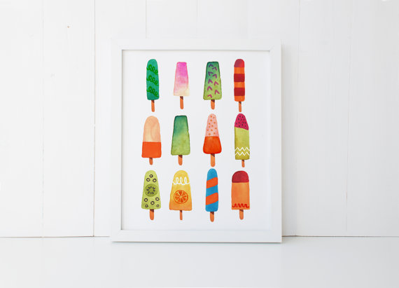 Frosted Petticoat Top 10 Summer Foodie Guide Popsicle Print Art - Top 10 Summer Foodie Must-Haves