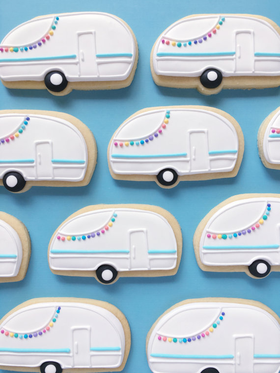 Frosted Petticoat Top 10 Summer Foodie Guide Retro Camper Sugar Cookies by Holly Fox Design - Top 10 Summer Foodie Must-Haves