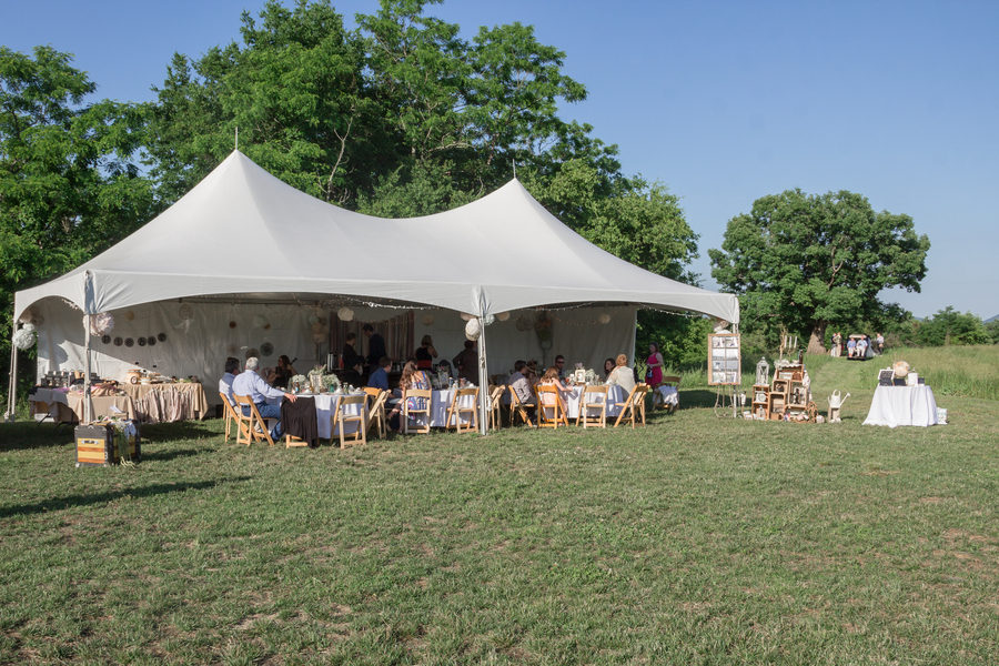 Outdoor wedding tea party 4
