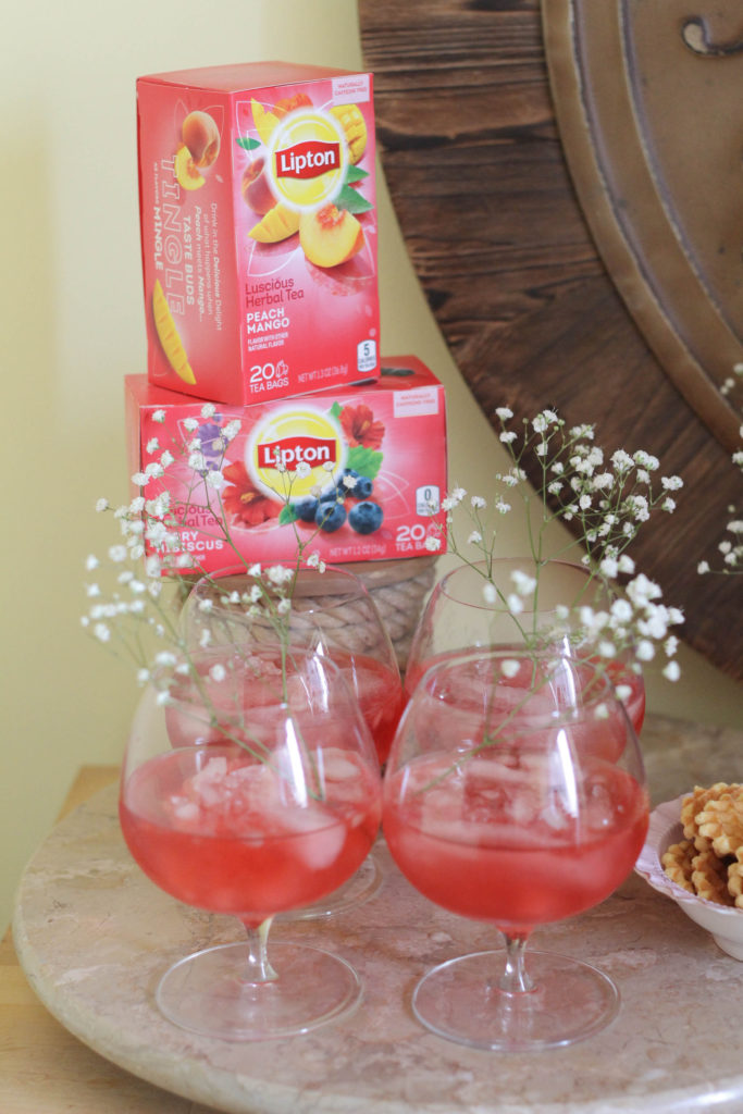 Warm weather afternoon tea party featuring Lipton Teas Herbal blends The Frosted Petticoat 4 683x1024 - Afternoon Tea Party Ideas