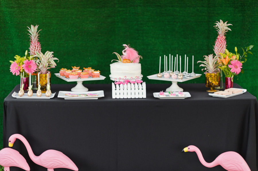 Flamingo themed summer party 9