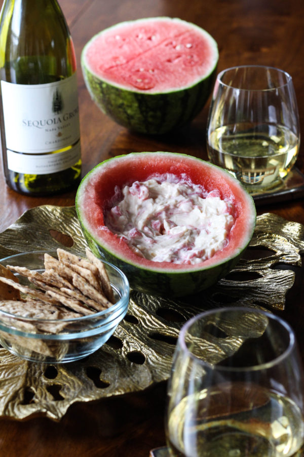 Sequoia Grove Chardonnay paired with Swiss Watermelon Dip - Sequoia Grove Chardonnay + Swiss Watermelon Dip