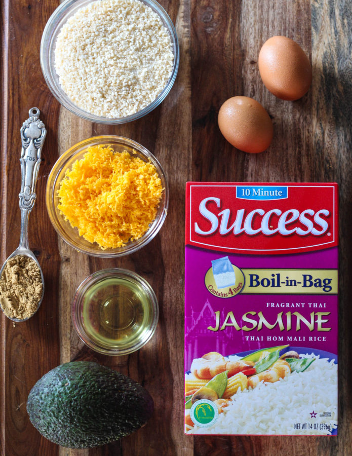 Avocado Jasmine Rice Balls - Ingredients