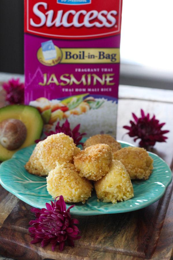 Avocado Jasmine Rice Balls - easy back-to-school snack
