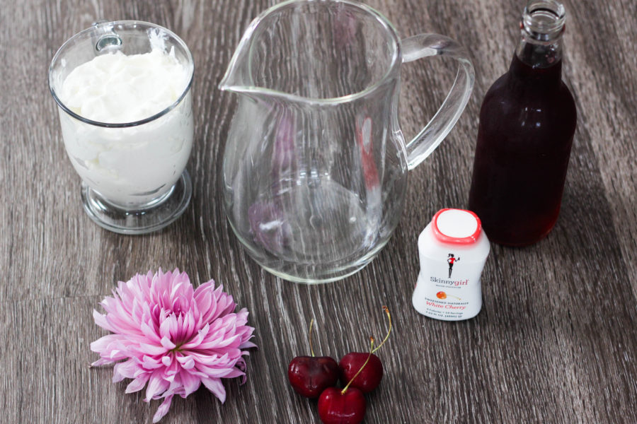 Cherry Lassi Shooters featuring SkinnyGirl 1 4 - Skinny Cherry Lassi Shooters